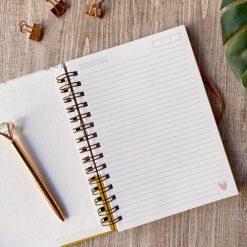 usando o planner para escrever o planejamento mensal