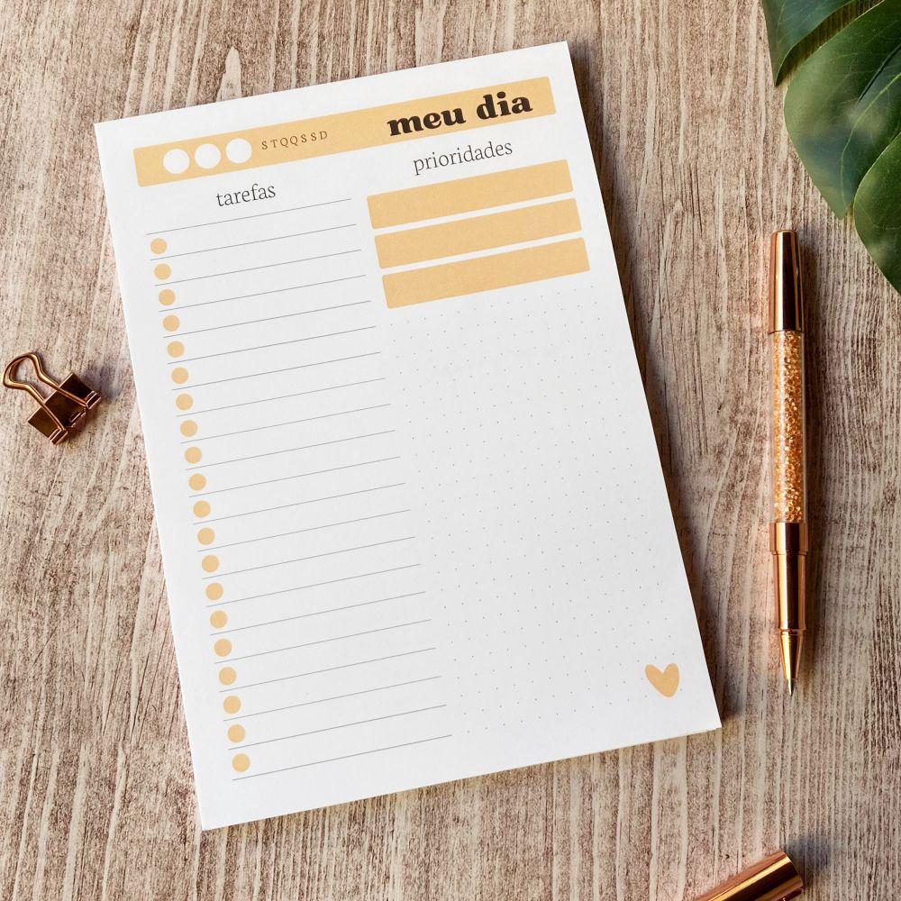 Bloco meu dia para criar listas de tarefas