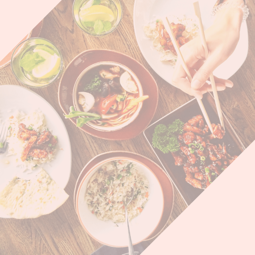 refeições gostosas e saudáveis com um cardápio semanal