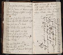 foto de um commonplace book do século XVII